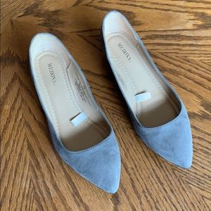 Merona flats, women's 7.5 - gray